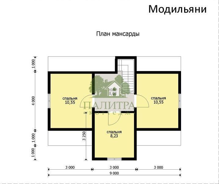 """ДОМ """"МОДИЛЬЯНИ"""" 7Х9М"""