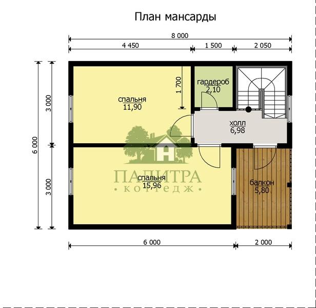 "ДОМ ""БАТИСТ-4"" 7Х8 М"