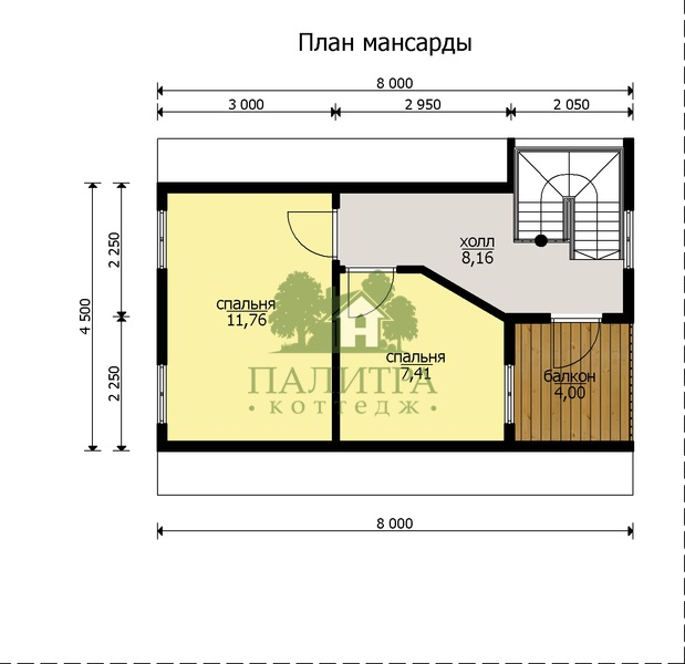 "ДОМ ""БАТИСТ-3"" 7Х8М"